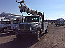 Altec DM47-TR, Digger Derrick, rear mounted on, 2004 International 7300 4x4 Flatbed/Utility Truck