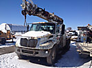 Altec DM47-TR, Digger Derrick, rear mounted on, 2005 International 4300 Flatbed/Utility Truck