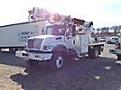 Altec DM47-TR, Digger Derrick, rear mounted on, 2005 International 7300 4x4 Flatbed/Utility Truck