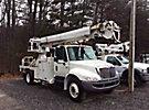 Altec DM47-TR, Digger Derrick, rear mounted on, 2006 International 4300 Flatbed/Utility Truck