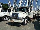 Altec DM47-TR, Digger Derrick, rear mounted on, 2007 International 4300 Flatbed/Utility Truck