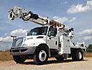 Altec DM47-TR, Digger Derrick, rear mounted on, 2007 International 4300 Flatbed/Utility Truck