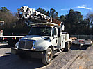 Altec DM47-TR, Digger Derrick, rear mounted on, 2008 International 4300 Flatbed/Utility Truck