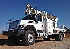 Altec DM47-TR, Digger Derrick, rear mounted on, 2011 International 7300 Work Star 4x4 Utility Truck