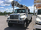 Altec DM47-TR, Digger Derrick corner mounted on 2007 International 7300 4x4 Utility Truck