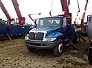 Altec DM47-TR, Digger Derrick rear mounted on 2007 International 4300 Flatbed/Utility Truck