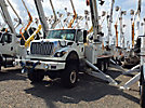 Altec DT80, Digger Derrick, rear mounted on 2008 International 7600 6x6 Flatbed/Utility Truck,