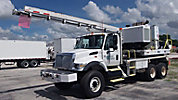 Altec HD35A-22, Pressure Digger, rear mounted on, 2003 International 4900 6x6 T/A Flatbed Truck