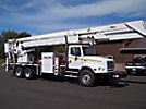 Altec HL125, Articulating & Telescopic Material Handling Bucket Truck rear mounted on 2004 Freightliner FL112 T/A Flatbed/Utility Truck