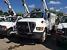 Altec L36A, Over-Center Bucket Truck center mounted on 2005 Ford F750 Utility Truck