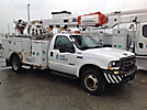Altec L37-MH, Over-Center Material Handling Bucket Truck, center mounted on, 2003 Ford F550 Service Truck