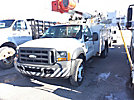 Altec L37-MH, Over-Center Material Handling Bucket Truck, mounted behind cab on, 2005 Ford F550 Service Truck