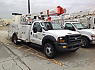 Altec L37-MH, Over-Center Material Handling Bucket Truck, rear mounted on, 2006 Ford F550 4x4 Service Truck
