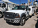 Altec L37-MH, Over-Center Material Handling Bucket Truck center mounted on 2005 Ford F550 4x4 Service Truck