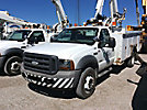 Altec L37-MH, Over-Center Material Handling Bucket Truck center mounted on 2005 Ford F550 Service Truck