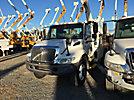 Altec L37-MH, Over-Center Material Handling Bucket Truck center mounted on 2005 International 4300 Utility Truck