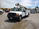Altec L37M, Over-Center Material Handling Bucket Truck, center mounted on, 2001 Ford F550 Service Truck