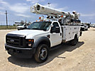 Altec L37M, Over-Center Material Handling Bucket Truck, rear mounted on, 2008 Ford F550 4x4 Service Truck