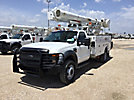 Altec L37M, Over-Center Material Handling Bucket Truck, rear mounted on, 2009 Ford F550 4x4 Service Truck
