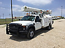 Altec L37M, Over-Center Material Handling Bucket Truck, rear mounted on, 2010 Ford F550 4x4 Service Truck
