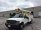 Altec L37M, Over-Center Material Handling Bucket Truck center mounted on 2001 Ford F550 Service Truck