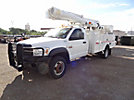 Altec L37MR, Over-Center Material Handling Bucket Truck, rear mounted on, 2009 Dodge W5500 4x4 Service Truck