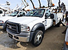 Altec L37MR, Over-Center Material Handling Bucket Truck center mounted on 2006 Ford F550 Service Truck