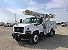 Altec L37MR, Over-Center Material Handling Bucket Truck center mounted on 2008 Chevrolet C7500 Utility Truck