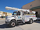 Altec L42-MH, Over-Center Material Handling Bucket Truck, center mounted on, 2009 International 4300 Utility Truck