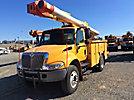 Altec L42-MH, Over-Center Material Handling Bucket Truck center mounted on 2004 International 4400 Utility Truck