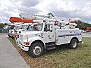 Altec L42A, Over-Center Bucket Truck, center mounted on, 2002 International 4700 Utility Truck