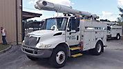 Altec L42A, Over-Center Bucket Truck, center mounted on, 2004 International 4300 Utility Truck