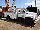 Altec L42A, Over-Center Bucket Truck, rear mounted on, 1998 GMC C6500 Utility Truck
