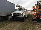 Altec L42A, Over-Center Bucket Truck center mounted on 2002 GMC C7500 Utility Truck