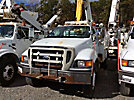 Altec L42A, Over-Center Bucket Truck center mounted on 2005 Ford F750 Utility Truck