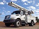 Altec L42M, Over-Center Material Handling Bucket Truck center mounted on 2005 International 4300 Utility Truck