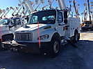 Altec L42M, Over-Center Material Handling Bucket Truck center mounted on 2010 Freightliner M2 Utility Truck