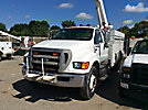 Altec L42P, Over-Center Bucket Truck rear mounted on 2008 Ford F750 Utility Truck