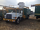 Altec LB650A, Bucket Truck, mounted behind cab on, 1997 Ford F800 Chipper Dump Truck