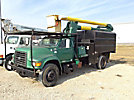 Altec LB650A, Bucket Truck mounted behind cab on 1997 Ford F800 Chipper Dump Truck