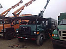 Altec LB652A, Bucket Truck mounted behind cab on 1998 Ford F800 Chipper Dump Truck