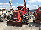 Altec LRIII-55, Over-Center Bucket Truck, mounted on, 1989 Timberjack 450B Articulating Log Skidder