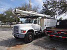 Altec LRIII-55, Over-Center Bucket Truck, rear mounted on, 1999 Ford F800 Utility Truck