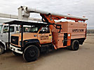 Altec LRV-55, Over-Center Bucket Truck, 2002 GMC C7500 Chipper Dump Truck