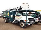 Altec LRV-55, Over-Center Bucket Truck, 2003 Ford F750 Chipper Dump Truck