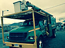 Altec LRV-55, Over-Center Bucket Truck, mounted behind cab on, 2000 Ford F750 Chipper Dump Truck