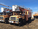 Altec LRV-55, Over-Center Bucket Truck, mounted behind cab on, 2000 GMC C7500 Chipper Dump Truck