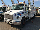 Altec LRV-55, Over-Center Bucket Truck, mounted behind cab on, 2001 Freightliner FL70 Utility Truck