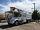 Altec LRV-55, Over-Center Bucket Truck, mounted behind cab on, 2003 International 4200 Dump Chipper Truck