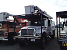 Altec LRV-55, Over-Center Bucket Truck, mounted behind cab on, 2003 International 7300 4x4 Chipper Dump Truck